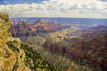 View of Grand Canyon from Bright Angel Point Trail on North Rim