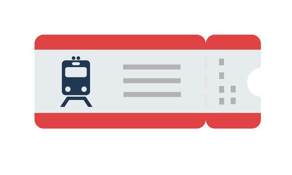 Train ticket vector flat isolated