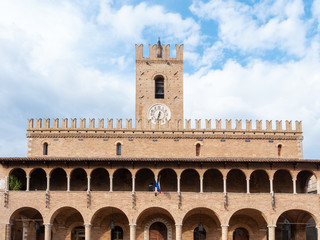 clock tower town hall of Urbisaglia Marche Italy