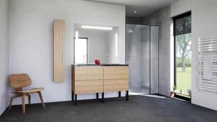 vue 3d meuble de salle de bain 02