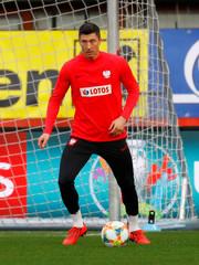 Euro 2020 Qualifier - Poland Training