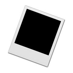 polaroid photo frame isolated on white background. Realistic vector illustration