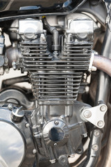 Wall Mural - motorcycle engine close-up