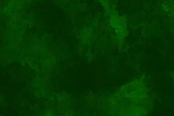 dunkelgrüner Farbverlauf Wasserfarben Gemälde