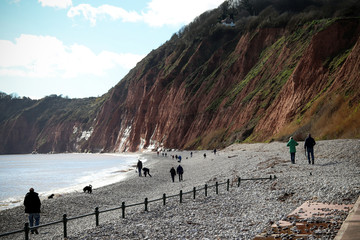 Sidmouth Beach in Devon