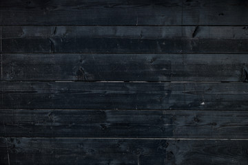 Wall Mural - Dark black wooden placnk as background