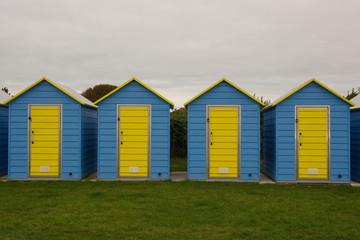 Beach huts at Bognor Regis, Sussex, England