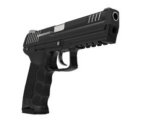 Semi automatic modern handgun - low angle shot