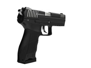 Semi automatic modern handgun - rear view
