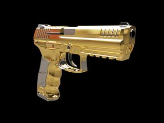 Semi automatic modern handgun - gold