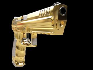 Looking down the barrel of a golden gun