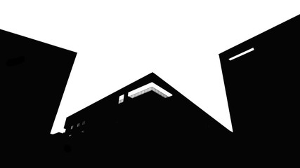 Abstract building in B&W