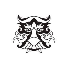 Dragon face Logo Template