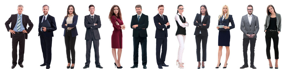 group of successful business people isolated on white Fotobehang