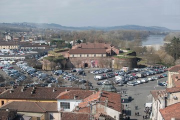 Panorama of Casale Monferrato 10 March 2019 from the Civic Tower
