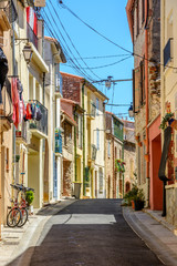 Street in Argeles-sur-Mer in the Pyrenees-Orientales, France