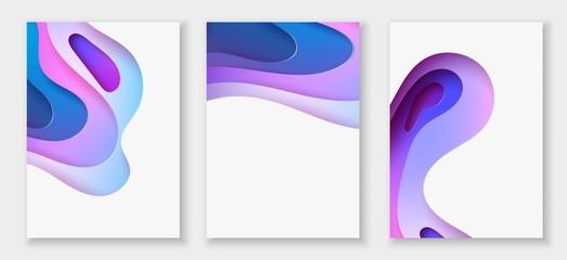 Estores personalizados con motivos artísticos con tu foto abstract color 3d paper art illustration set. Vector design layout for banners presentations, flyers, posters and invitations