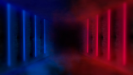 Wall Mural - Neon lights background