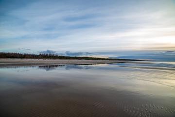 calm morning in summer on the sea beach