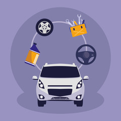 car vehicle sedan icon