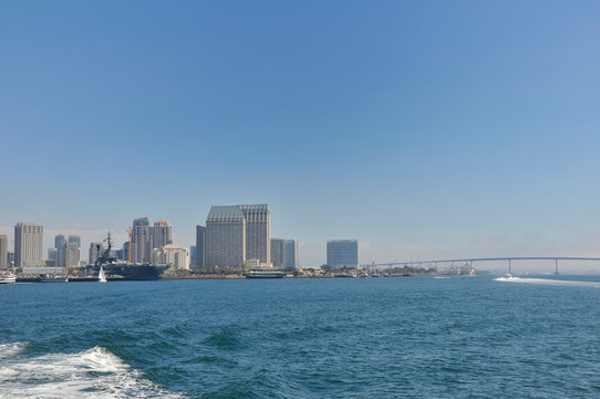 View over San Diego from the Ocean