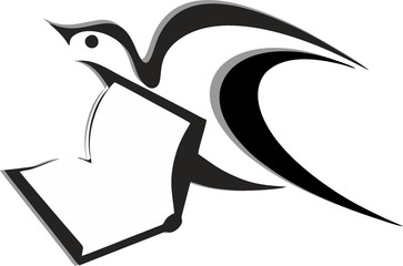 A bird symbolizing the craving for learning and new knowledge.