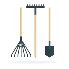 Agricultural implements vector flat isolated