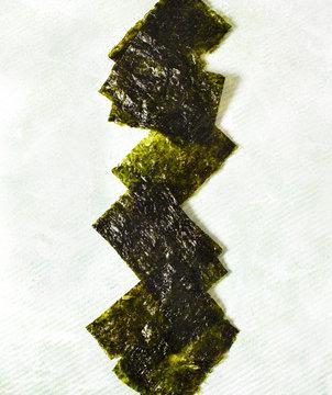 Japanese or korean roasted seaweed snack. Roasted Dried Seaweed, Healthy Snack