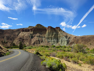 Cathedral Rock in the Sheep Rock Unit of the John Day Fossil Beds National Monument of Oregon