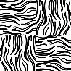 abstract zebra texture of black and white colors