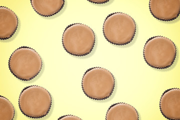 Sweet candy peanut butter cups