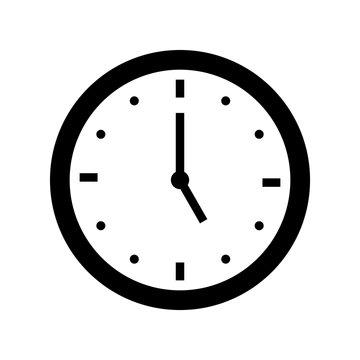 five o'clock icon outline vector