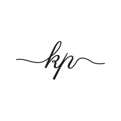 initials handwriting letters vector logo