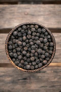 organic kampot dried black pepper corns in cambodia