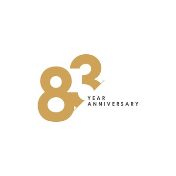 83 Year Anniversary Vector Template Design Illustration