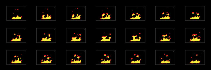 Fire explosion effect. Fire blast effect for game design, motion graphic, animation or something else