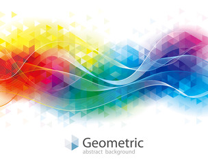 Colorful geometric and wave abstract modern background.