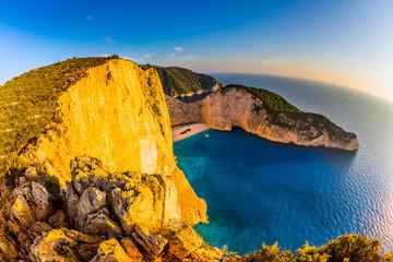 The coast of Zakynthos