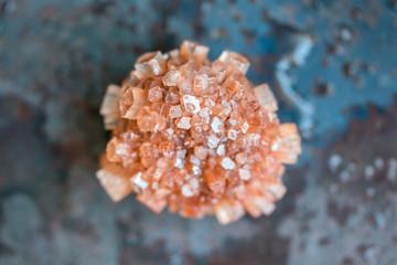 Aragonite crystal cluster macro