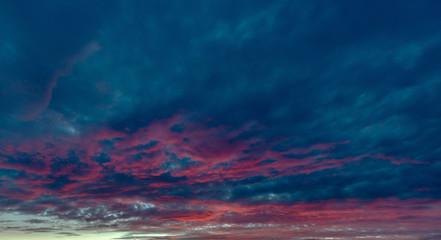 Red dawn clouds