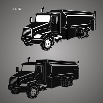 Tank truck vector illustration. Modern tanker isolated vector