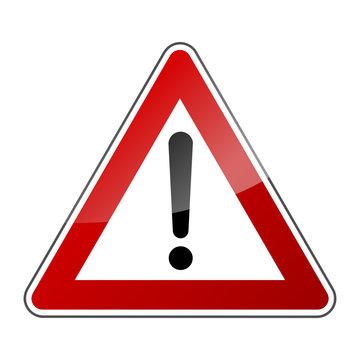 Panneau sécurité routière, danger