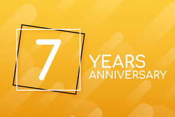 7 years anniversary emblem. Anniversary icon or label. 7 years celebration and congratulation design element. Vector illustration.