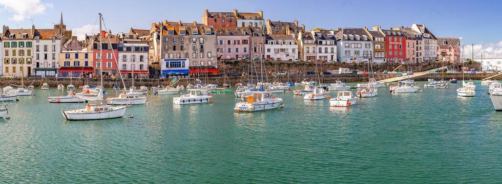 Douarnenez. Panorama du port du Rosmeur, Finistère, Bretagne