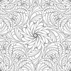 Coloring book for adults and older children. coloring patterns, animals, flowers, mandalas. Islamic, Arabic, Indian, Ottoman motifs. Black and white.