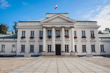 Belweder Palace in Warsaw city, capital of Poland