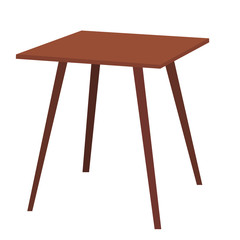 isolated, table brown