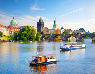 Fototapete - Charles bridge in Prague