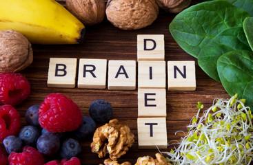 Brain diet, nutrition for brain Wall mural