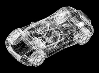 concept car blueprint